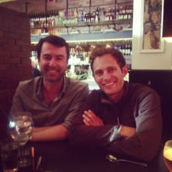 Yaro Starak and Noah Kagan in Melbourne's Cookie Bar