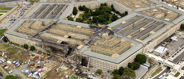 The Pentagon on September 12, 2001