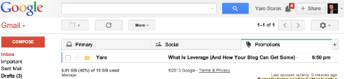 Gmail New Promotions Tab
